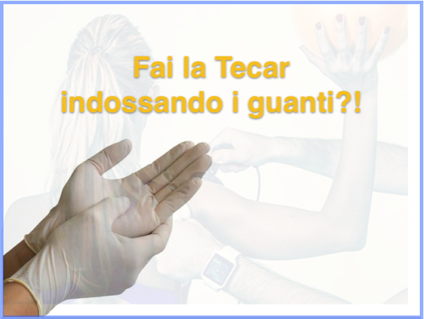 Do you wear gloves when applying TECAR?